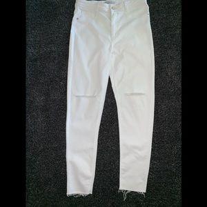 Zara Basic Denim | White Jeans